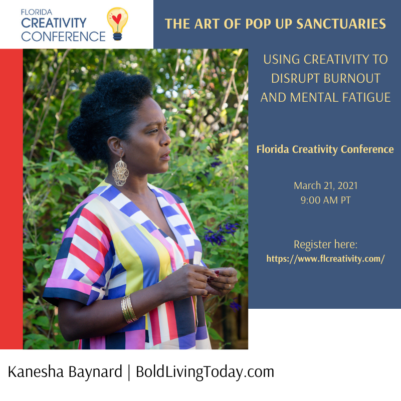 Florida Creativity Conference: The Art of Pop Up Sanctuaries