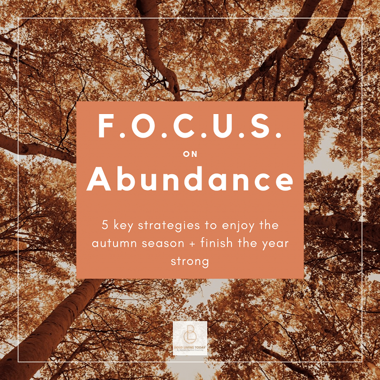 JOURNALING: 31 prompts for autumn abundance